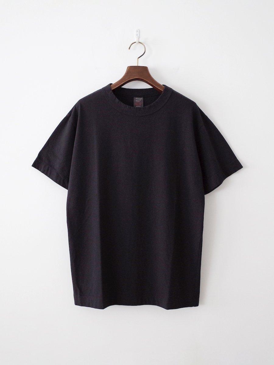 homspun 天竺半袖Tシャツ ブラック(XL , XXL)