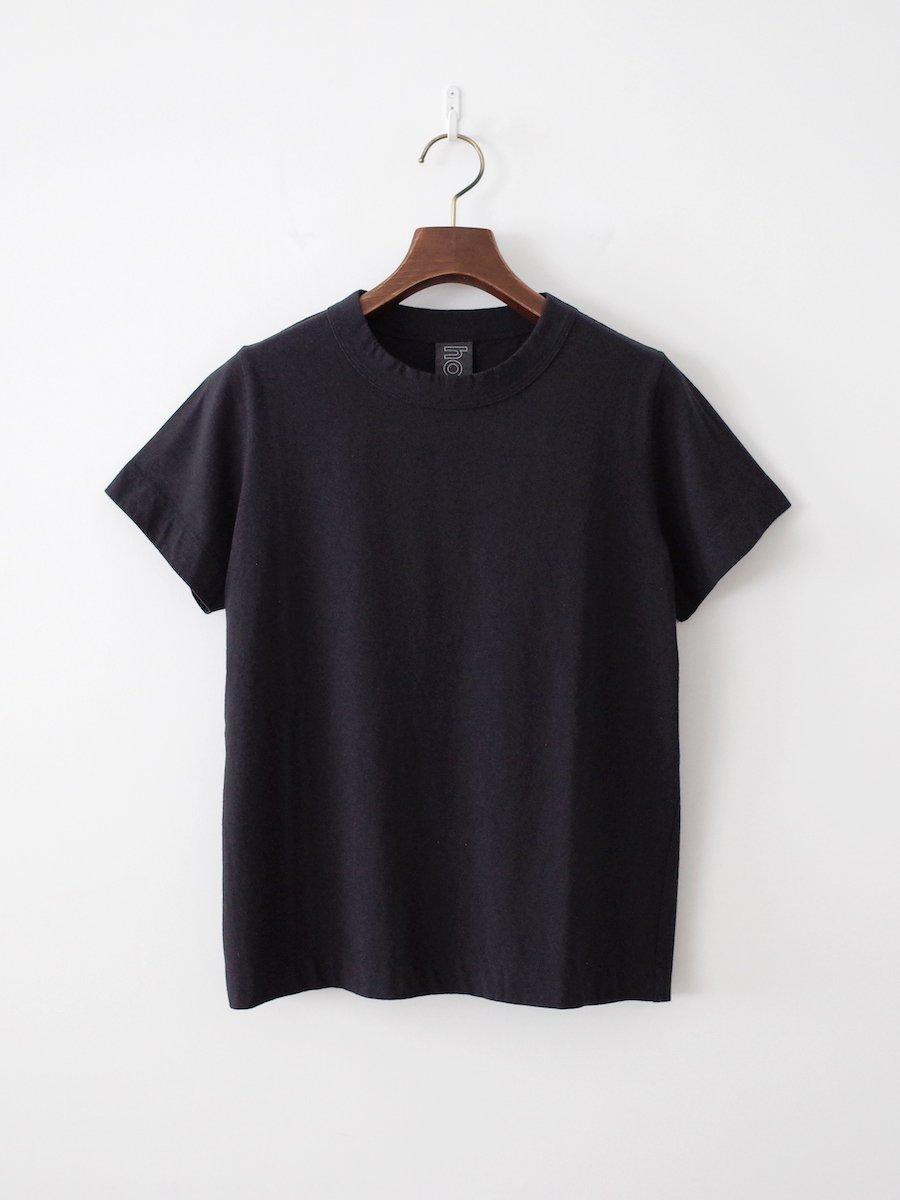 homspun 天竺半袖Tシャツ ブラック