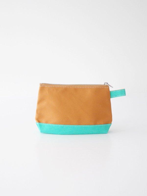 TEMBEA Toiletry Bag - Camel / Mint