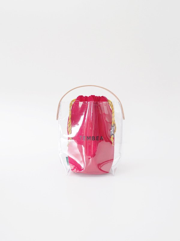 TEMBEA BH Tote PVC - Clear / Dk Red (VINCENT SHOE LACE Ver.)