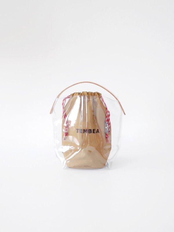 TEMBEA BH Tote PVC - Clear / Dk Khaki (VINCENT SHOE LACE Ver.)