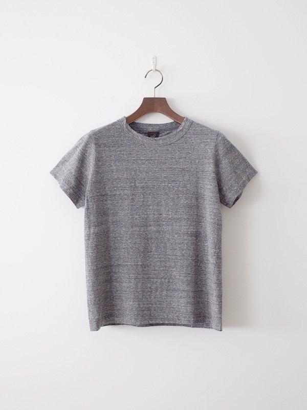 homspun 天竺半袖Tシャツ 粗挽杢チャコール