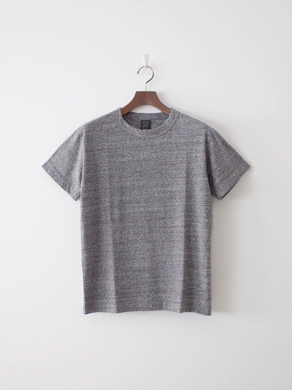 homspun 天竺半袖Tシャツ 粗挽杢チャコール(XL , XXL)