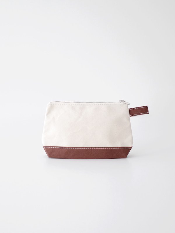 TEMBEA Toiletry Bag - Natural / Dk Brown