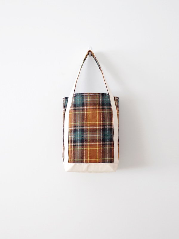 TEMBEA Baguette Tote Small Wool - Brown Check