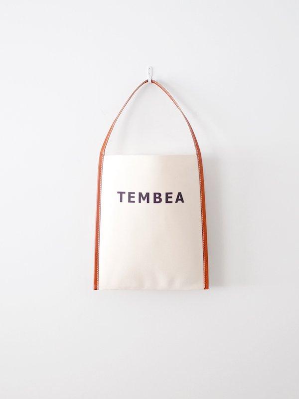 TEMBEA Big Logo Tote - Natural / Camel