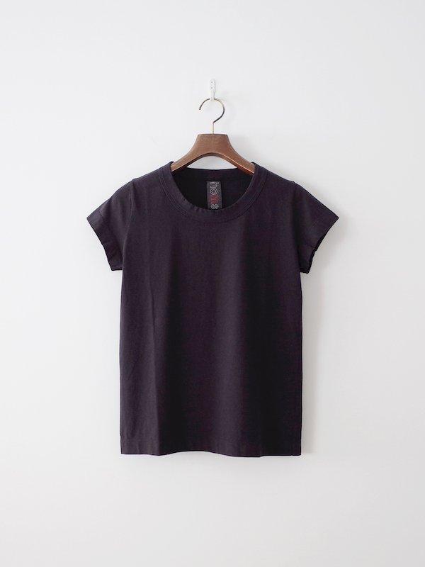homspun 天竺フレンチスリーブTシャツ ブラック