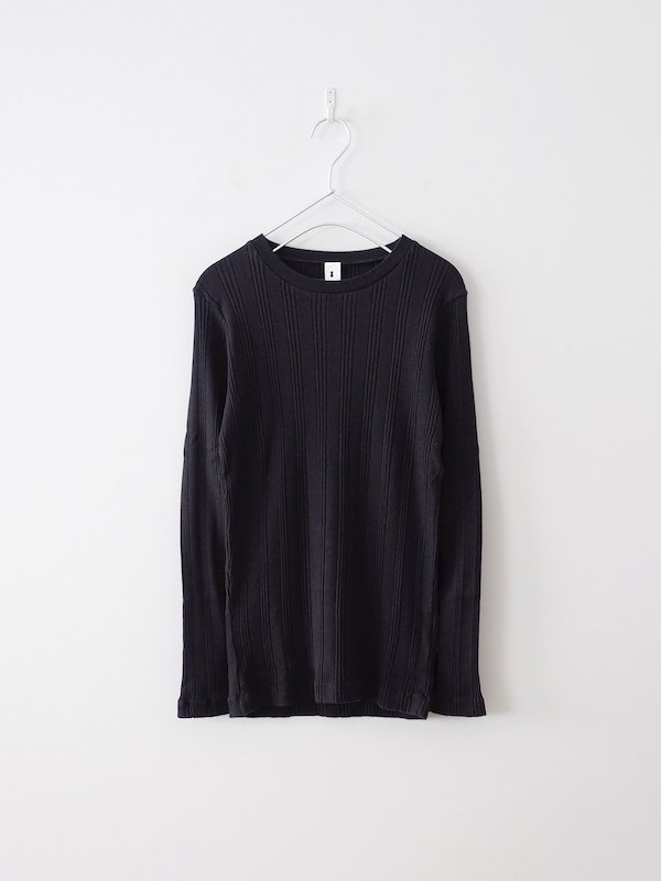 Ohh! Cotton Silk Random L/S Crew - Black