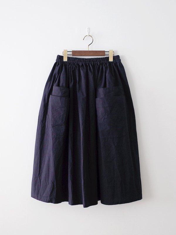 homspun オックス ダブルポケット ギャザースカート ネイビー