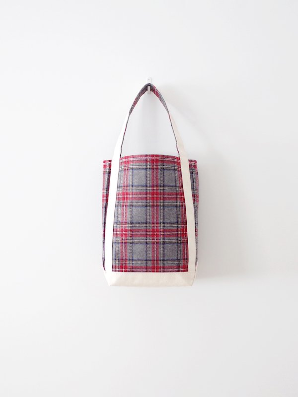 TEMBEA Baguette Tote Small Wool - Gray Check