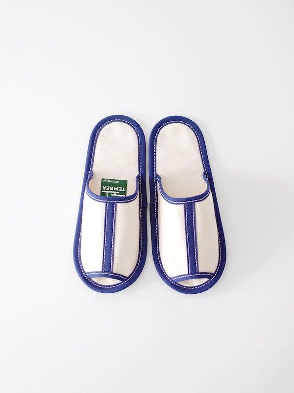 TEMBEA Slipper - Natural / Navy