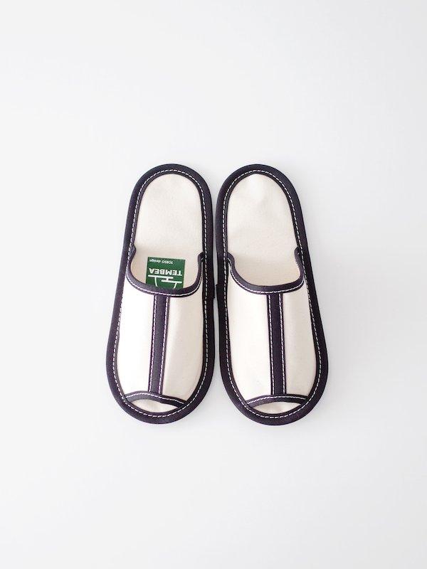 TEMBEA Slipper - Natural / Black
