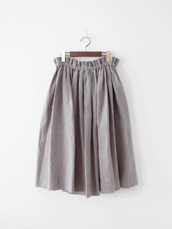 Atelier d'antan Nordal Linen Skirt - Gray