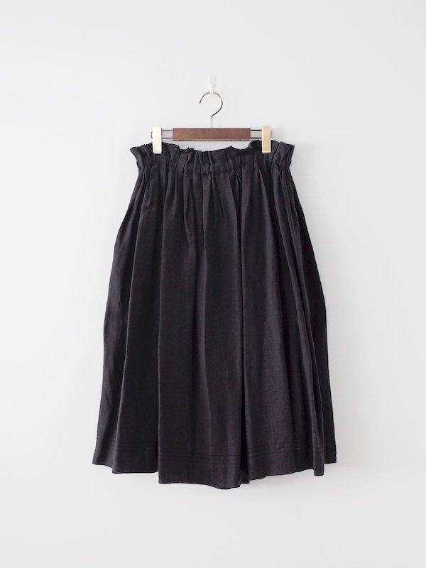 Atelier d'antan Nordal Linen Skirt - Black