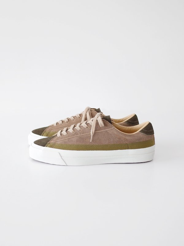 ASAHI BELTED LOW SUEDE - OLIVE / TAUPE