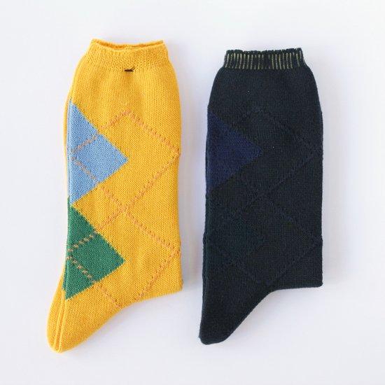 染め替え靴下 アーガイル