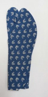 女性足袋 23.5~24.0 藍色  荒磯柄