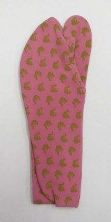 女性足袋 23.5~24.0 濃き桃色  荒磯柄