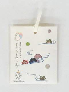 京かえら雪だるま和三盆(3個入り) 「デザインパッケージ 雪輪と楓に流水」