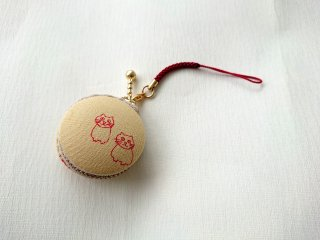 マカロンタイプ小物入「ねこ黄色」~頑張れ日本負けるな日本!応援セール