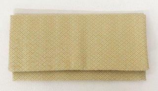 本丹後紋ちりめん長財布(ファスナー付き小銭いれ・カード入れ付き) 薄黄×黄 花菱文染め 松地紋