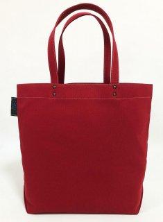 Eco bag「kaera suit」 エコバッグ仕様のレギュラーサイズバッグ えんじ色 本更紗文