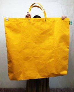 Eco bag「kaera giga armor」 エコバッグ仕様の超大きめバッグ どくろ文タグ