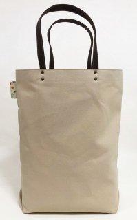 Eco bag「kaera armor」 エコバッグ仕様の大きめバッグ グレーベージュ地 花圃松四季文