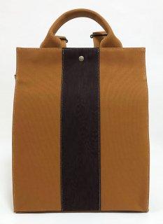リュックタイプバッグ「KAERA sac」キャメル色 桜木目 濃茶