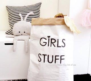 SALE // GIRLS STUFF paper bag