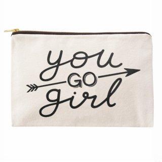 You GO girl  ナチュラルキャンバスポーチL (Last 1)