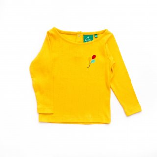 Pointelle Long Sleeve Tee Color Yellow
