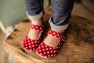 Vintage Red Polka Dot Shoes