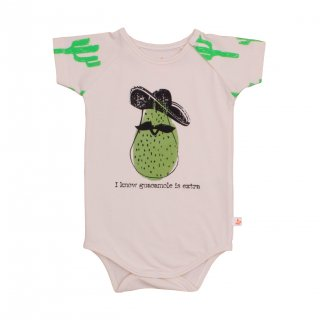 70% OFF SALE // Body Suit-Neon Green Cactus/w avocado