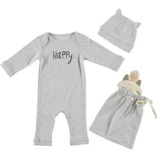 70% OFF SALE - Baby Romper Set /// HAPPY