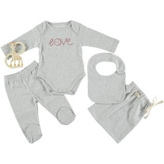 70% OFF SALE - Baby Bodysuit Set /// LOVE
