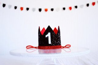 Micky Mouse Birthday Crown with Bow Tie Set