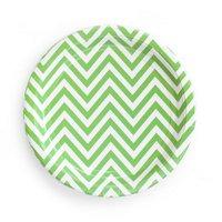 Green Chevron Paper Plates set of8 (Last1)