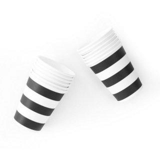 Black Stripe Paper Cups<br>set of12 (Last 1)