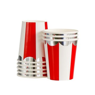Red Scallop Paper Cups set o8