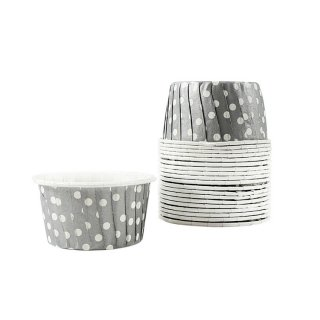 Treat Cups- Silver Dot set of 20