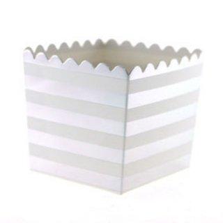 Favor Box-Silver Stripes set of 6