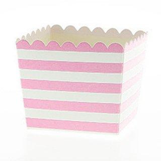 Favor Box-Pink Stripes set of 6