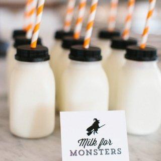 Mini Milk Bottles<br>set of 6