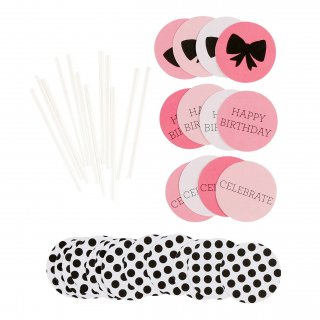 Cupcake Toppers Birthday Girl Set of 12