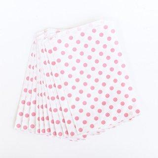 Polka Dot Paper Bags-Pink Set of 12