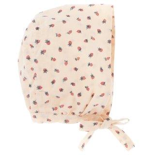 50% off SALE! Strawberry print bonnet
