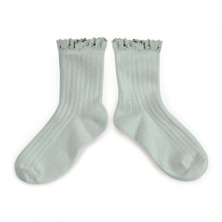 LILI Lace-Trim Ankle Socks /// Marine