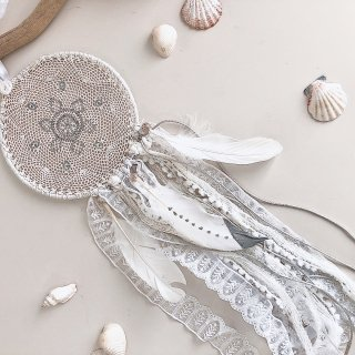 Dream Catcher - L size /// Luxury White  (Last 1)