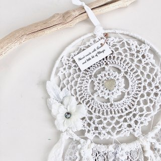 Dream Catcher - M size /// Flower White  (Last 1)